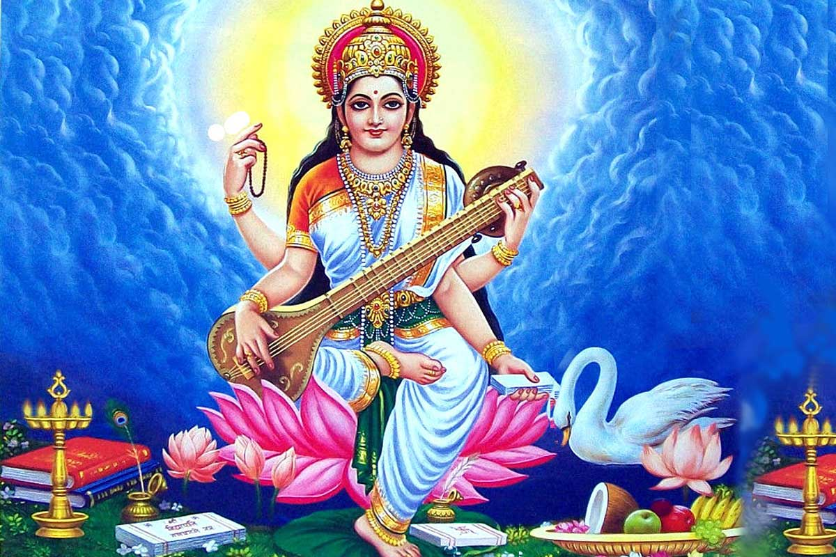 Saraswati Mata Wallpaper HD Free Download | Maa Saraswati ...